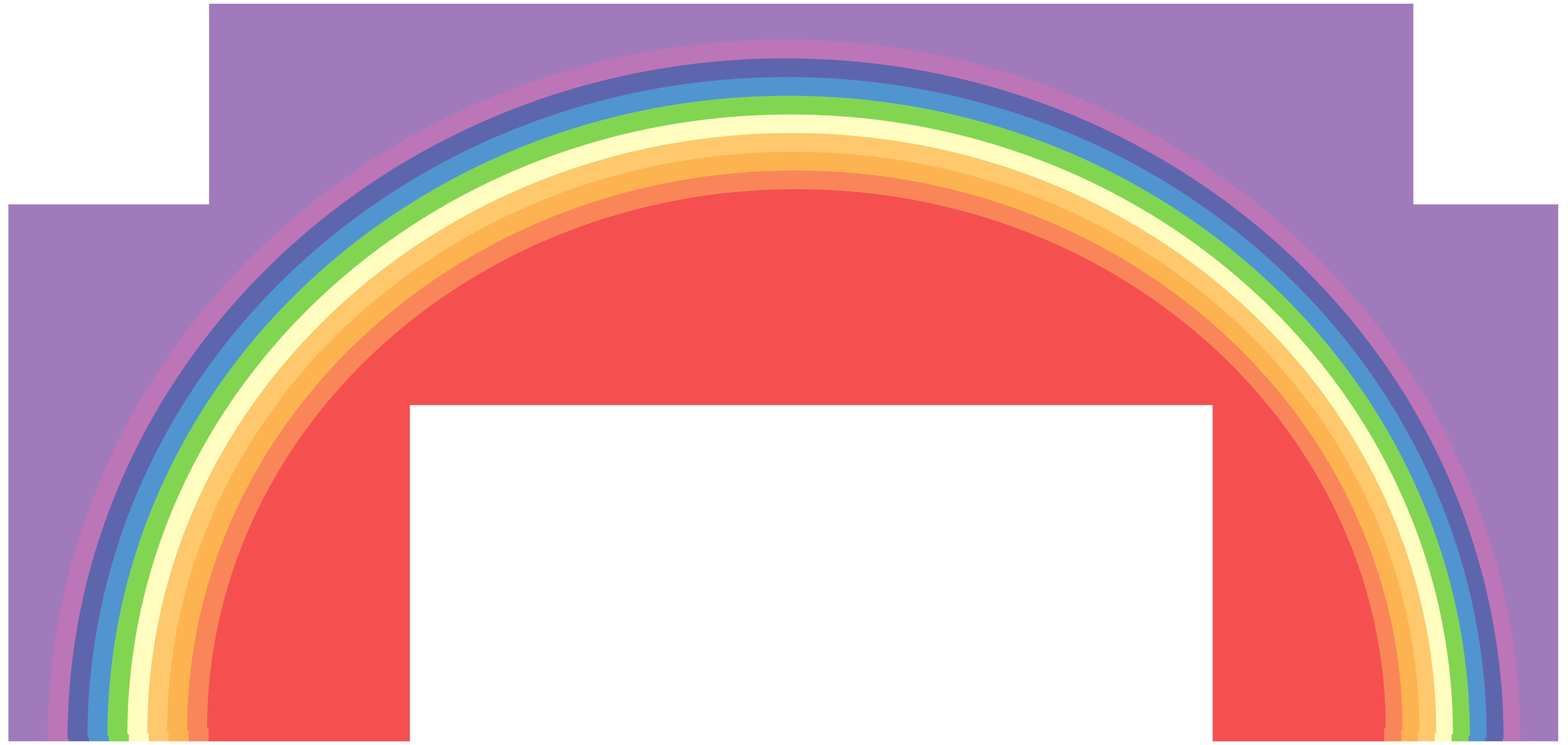 Rainbow Transparent PNG Clip Art Image.