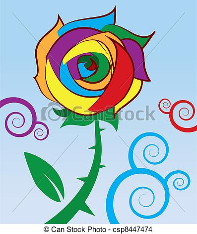 Rainbow rose Illustrations and Clipart. 455 Rainbow rose royalty.
