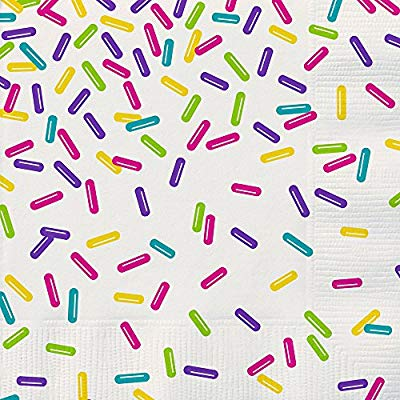 Amazon.com: Unique 99072 Tableware Rainbow Sprinkles Party.