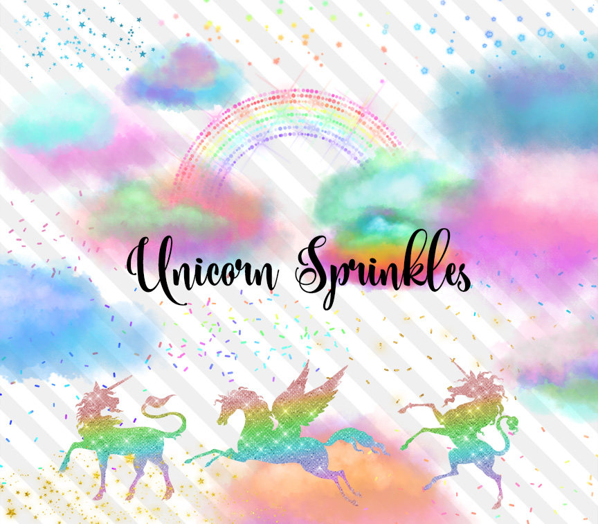 Unicorn Sprinkles Clip Art.