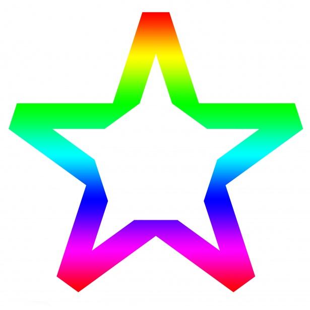 Star Clipart Rainbow Colors Free Stock Photo.