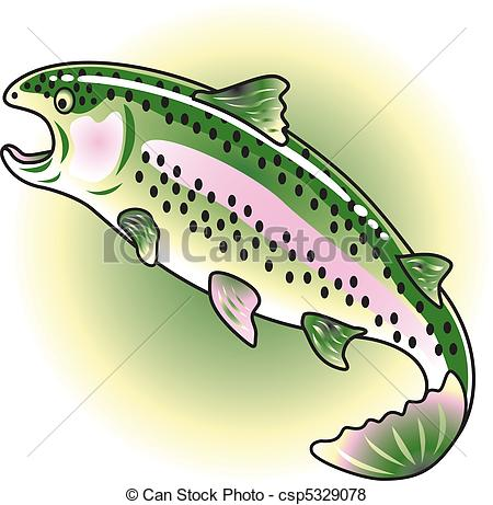 Rainbow trout Clip Art Vector and Illustration. 153 Rainbow trout.