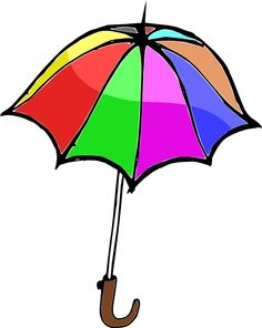 Rainbow Umbrellas.