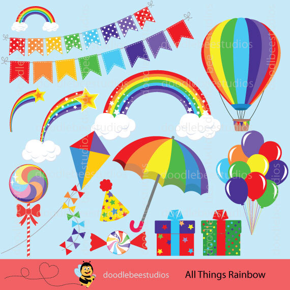 Rainbow Clipart, Rainbow Clip Art, Rainbow Lollipop, Rainbow Hot.