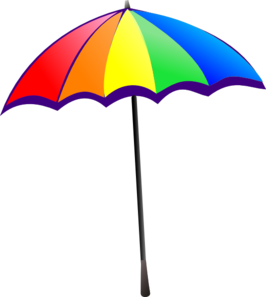 Rainbow Umbrella Clip Art at Clker.com.
