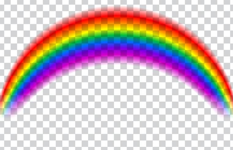 Transparent rainbow. Vector illustration. Realistic rainbow.