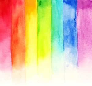 Rainbow Watercolor by Akkarapong.
