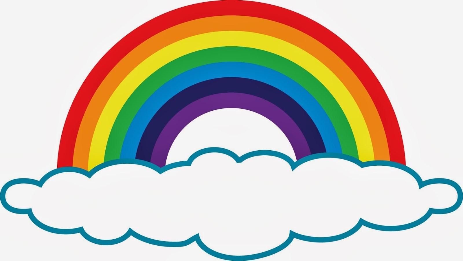 Rainbow cloud clipart 1 » Clipart Portal.