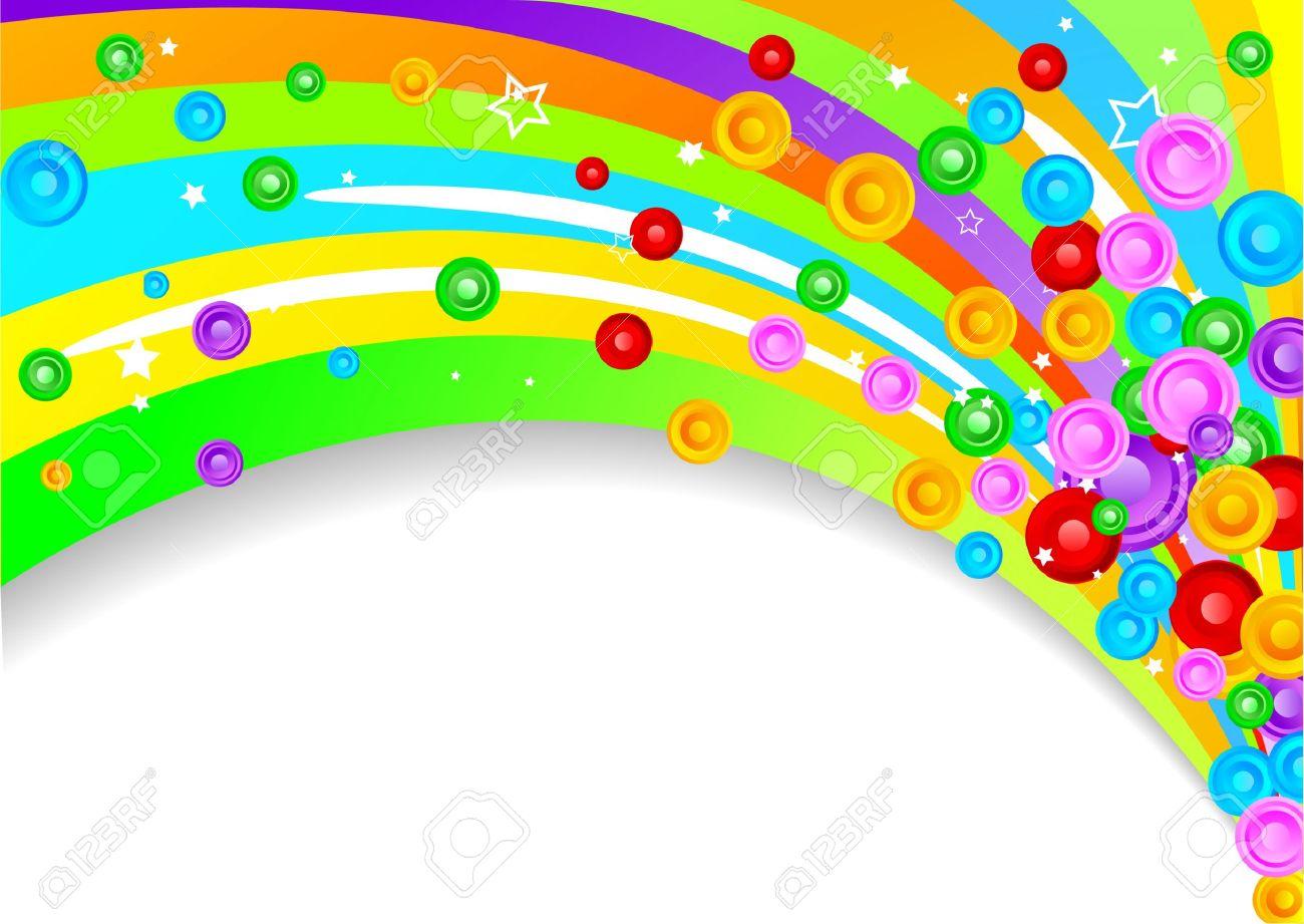 Rainbow Line Clip Art.