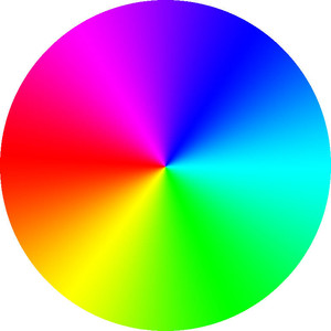 Rainbow colored clipart.