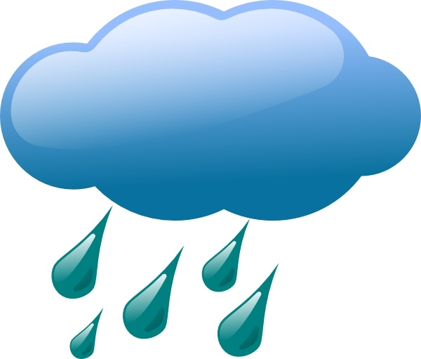 Rain Cloud clip art Free vector in Open office drawing svg ( .svg.