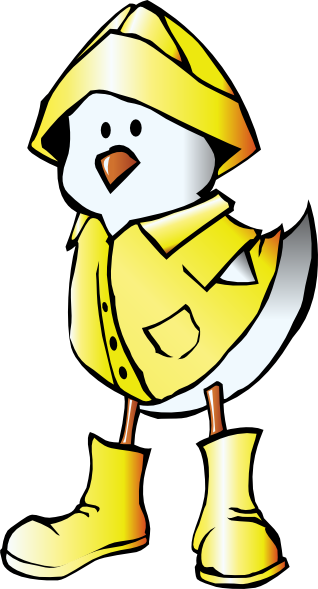 Chick With Raincoat Clip Art at Clker.com.