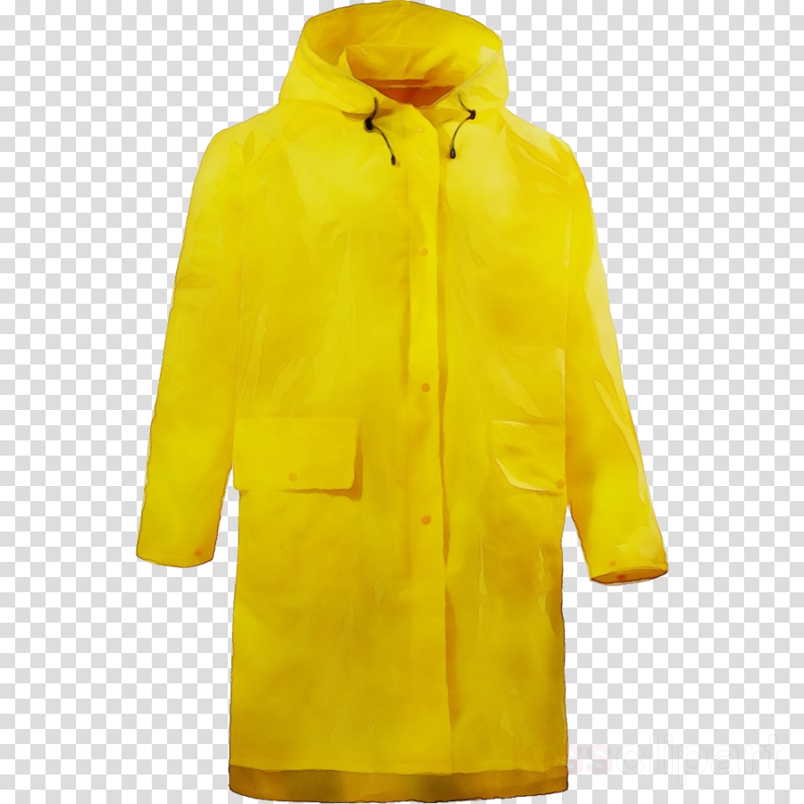 clothing outerwear yellow jacket raincoat clipart.