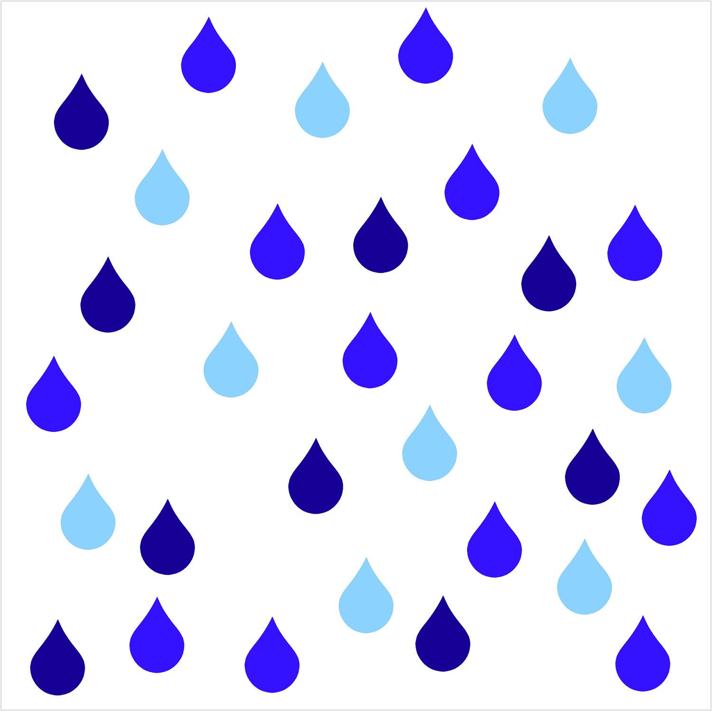 Raindrops Clipart.