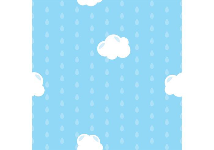 Blue Raindrops Vector Background.