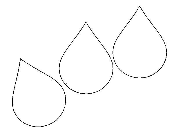Raindrop Printable.