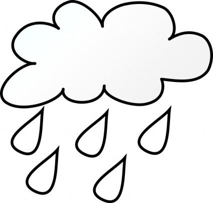 Rain Drop Outline.