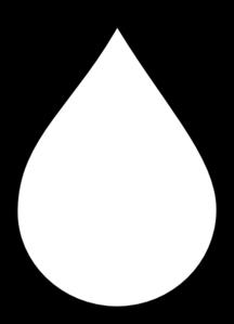 Black And White Raindrop Clipart.