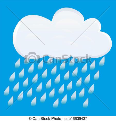 Vectors of icon rain. vector.