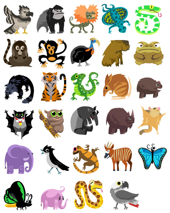 Tropical Rainforest Animals Clip Art, Rainforest Animals Free.