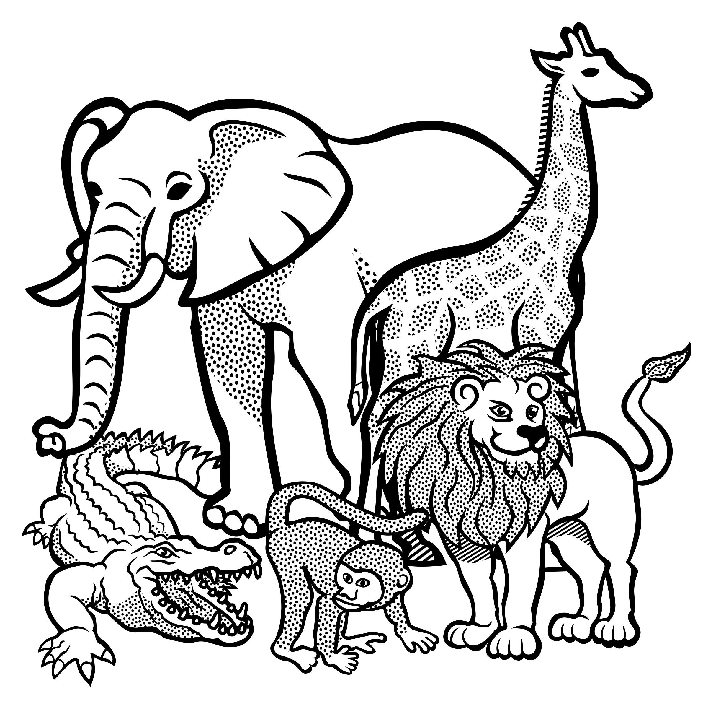 Free Jungle Clipart Black And White, Download Free Clip Art.
