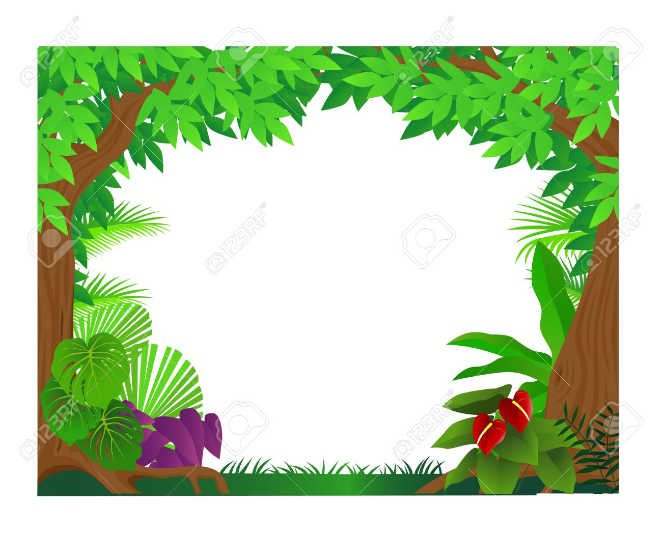 Jungle background clipart 2 » Clipart Station.