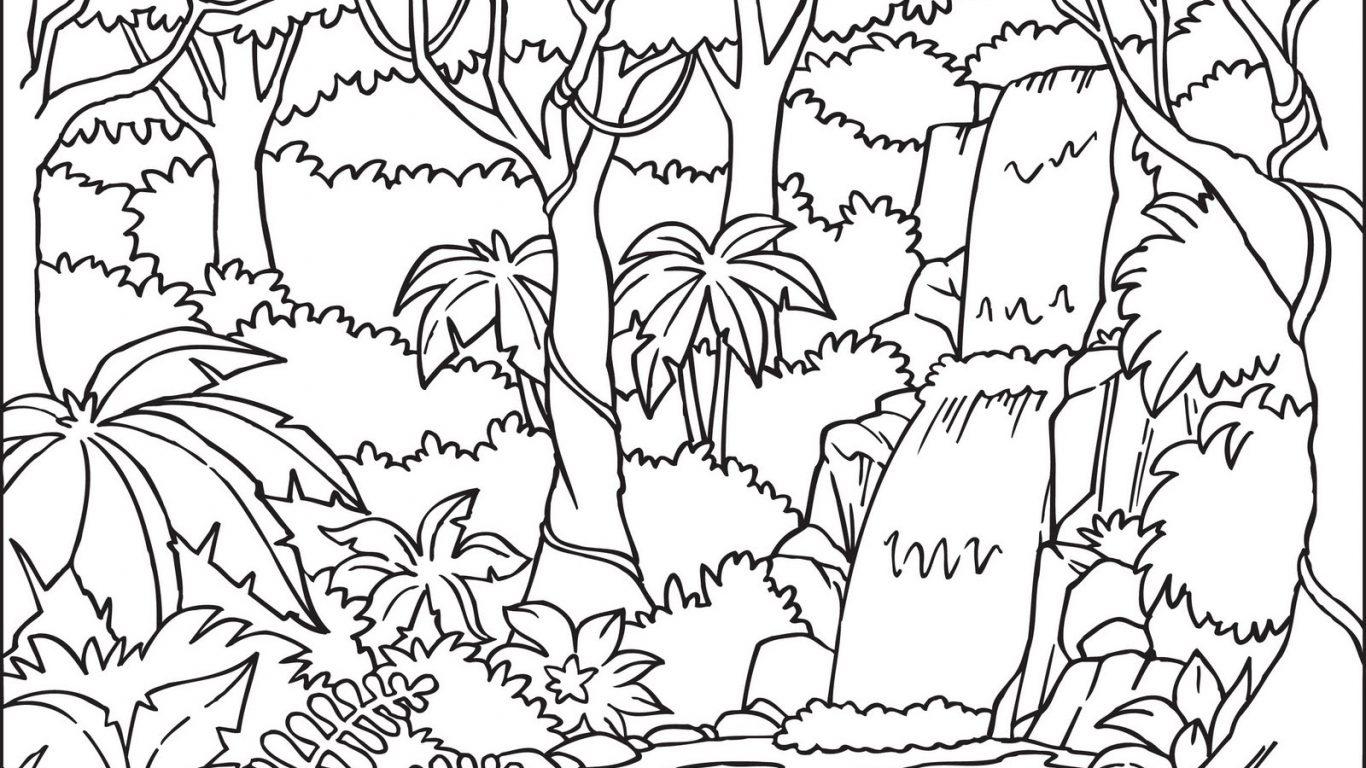 Clipart Black And White Jungle.