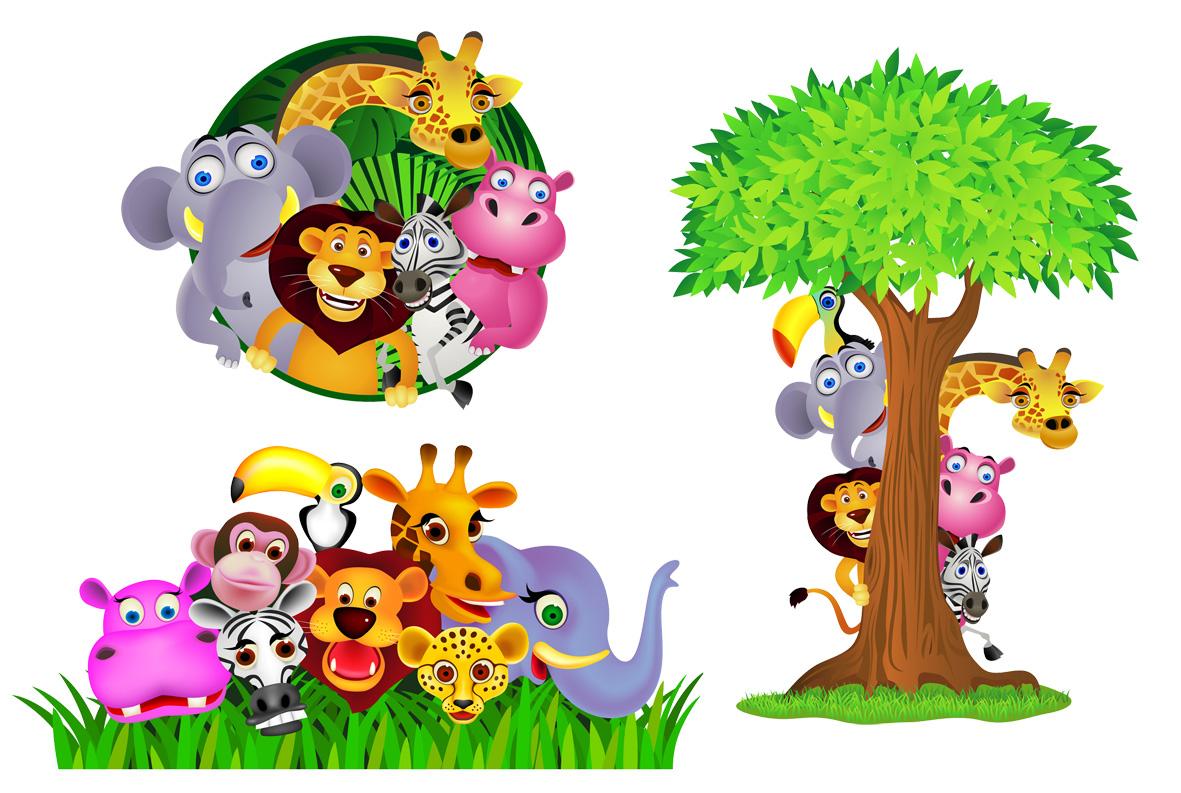 Rainforest Animals For Kids Clipart.