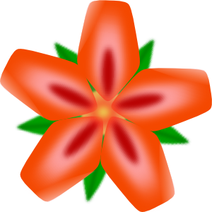 Rainforest Flowers Clipart.