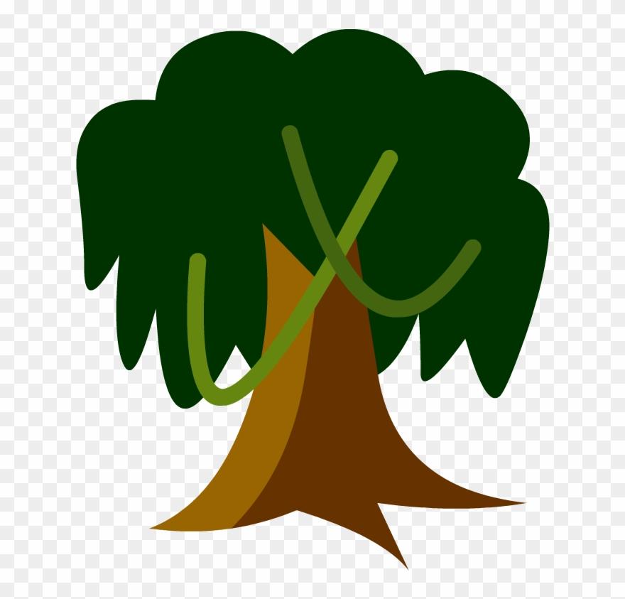 Tree In A Tropical Rainforest Cartoon Clipart (#609343.