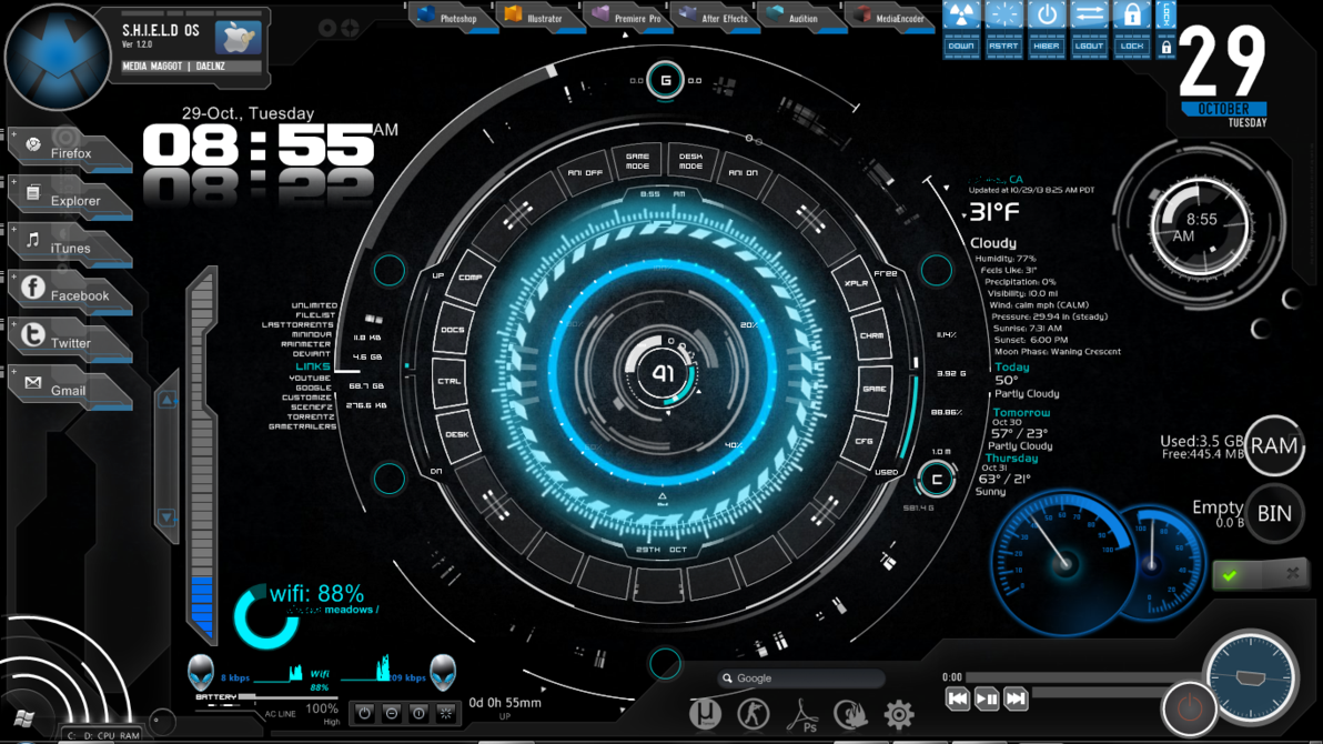 best rainmeter skins.