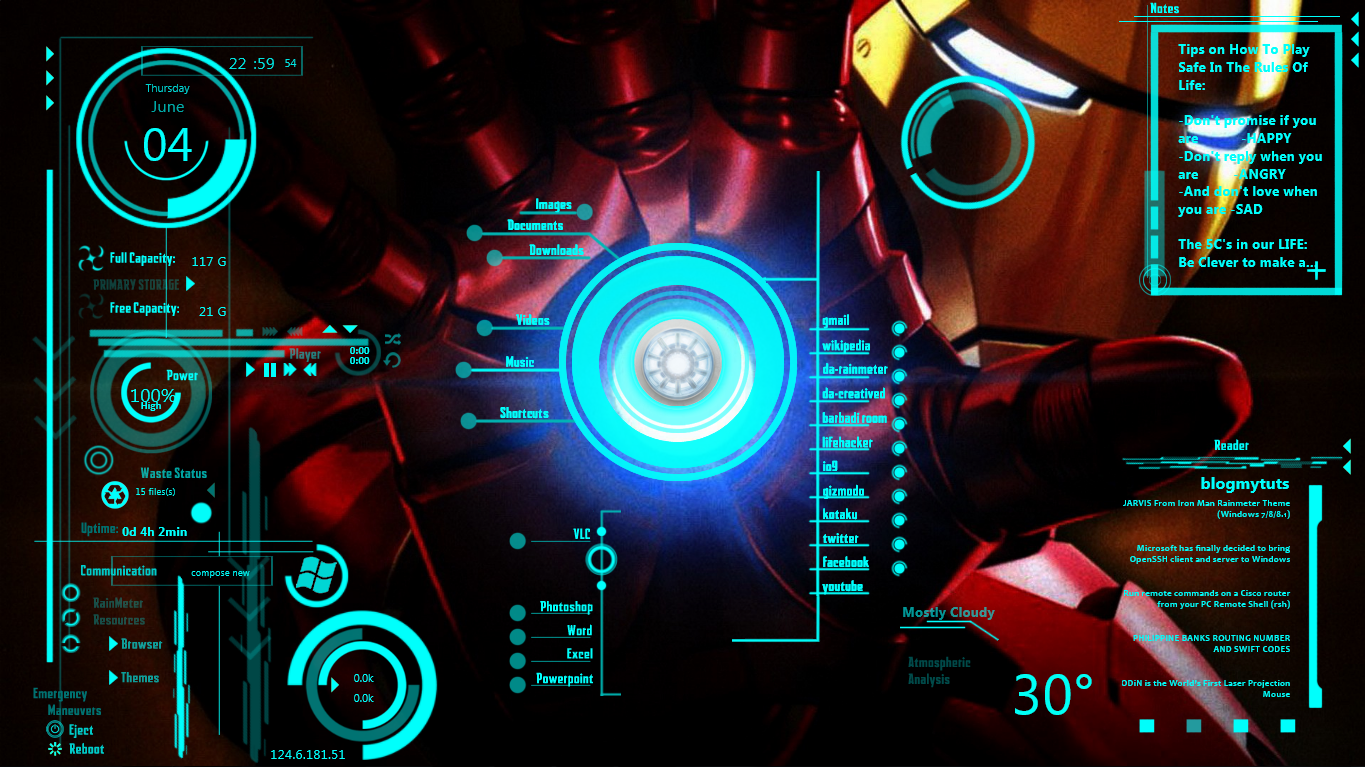 iron man jarvis rainmeter windows 7 download.