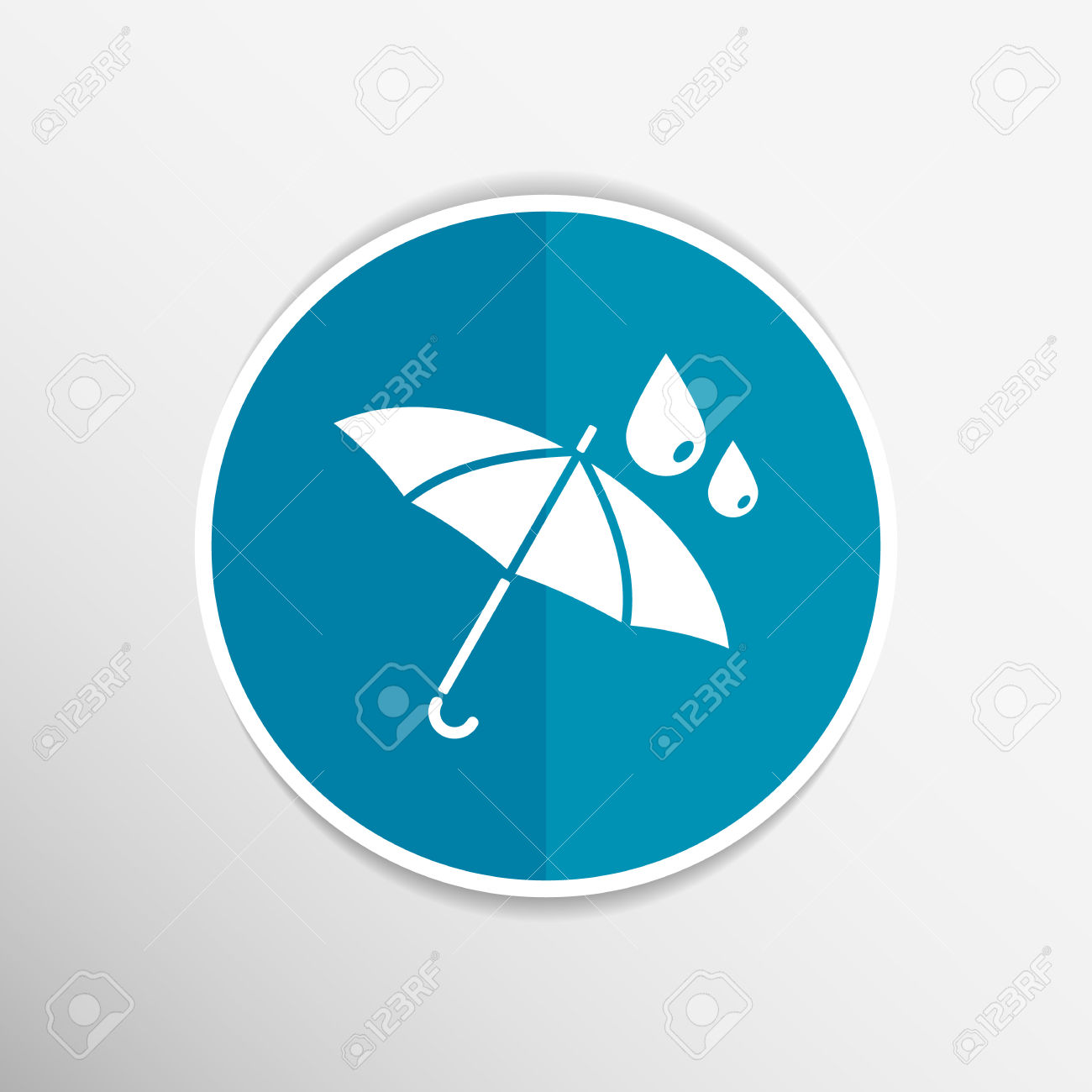 Waterproof Icon Water Proof Vector Symbol Umbrella. Royalty Free.