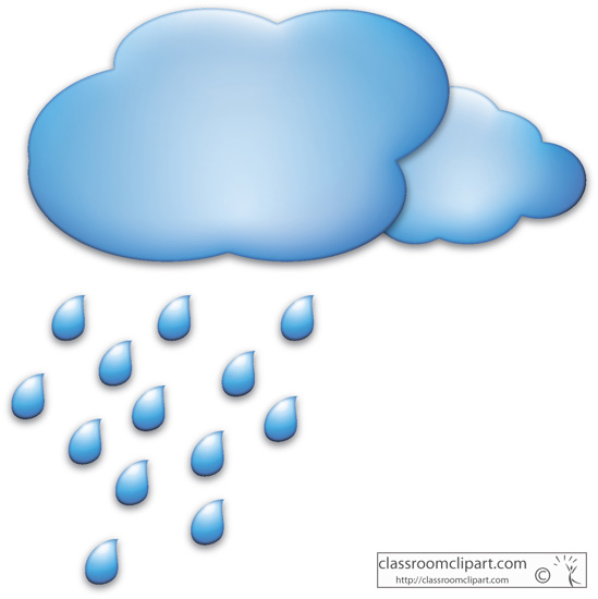 Cloud with raindrops clipart.
