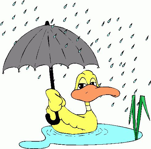 Clipart of people in too much rain.