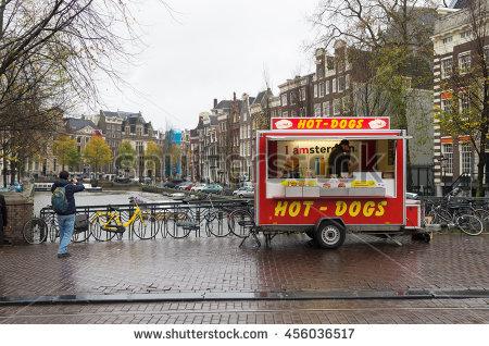 Hot Dog Vendor Stock Images, Royalty.