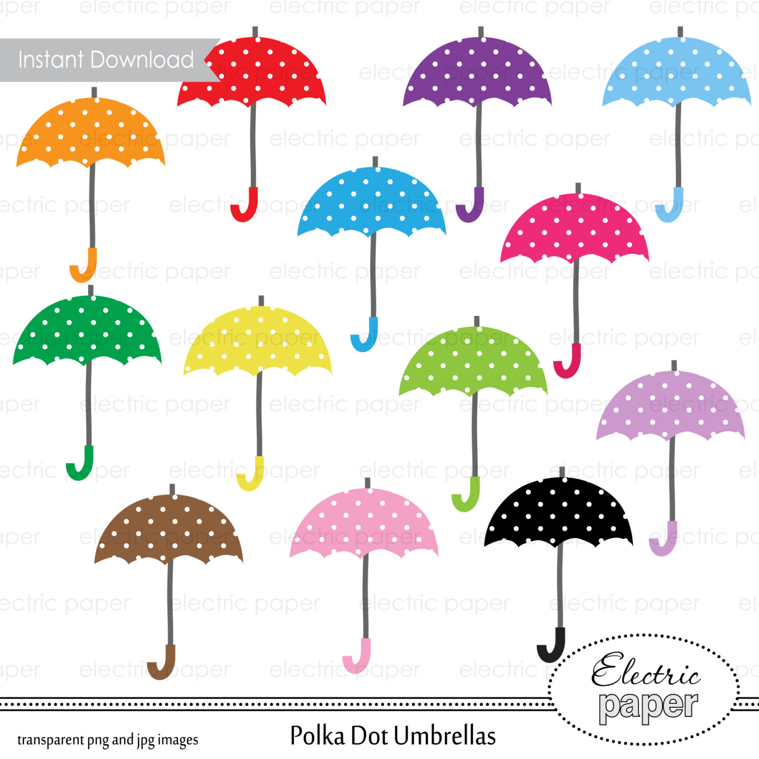 Clipart Rainy Day Umbrella.