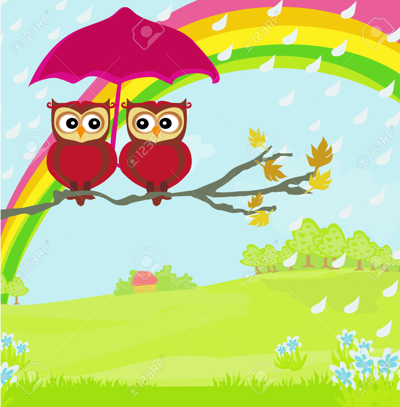 Animated Rainy Day Clipart.