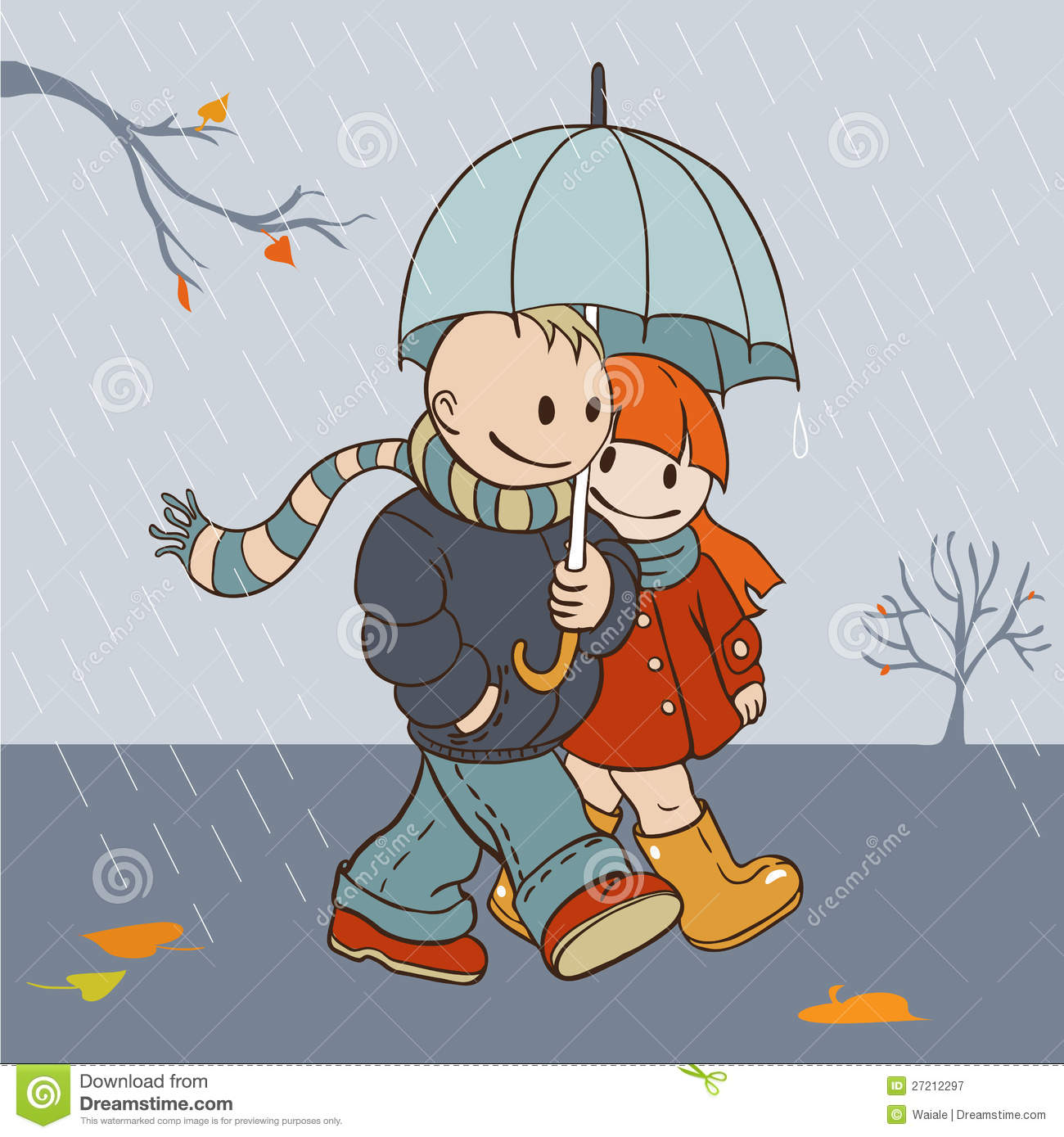 Rainy Day Boarder And Frame Clipart.