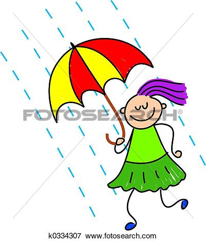 cloudy day and raining clipart #9