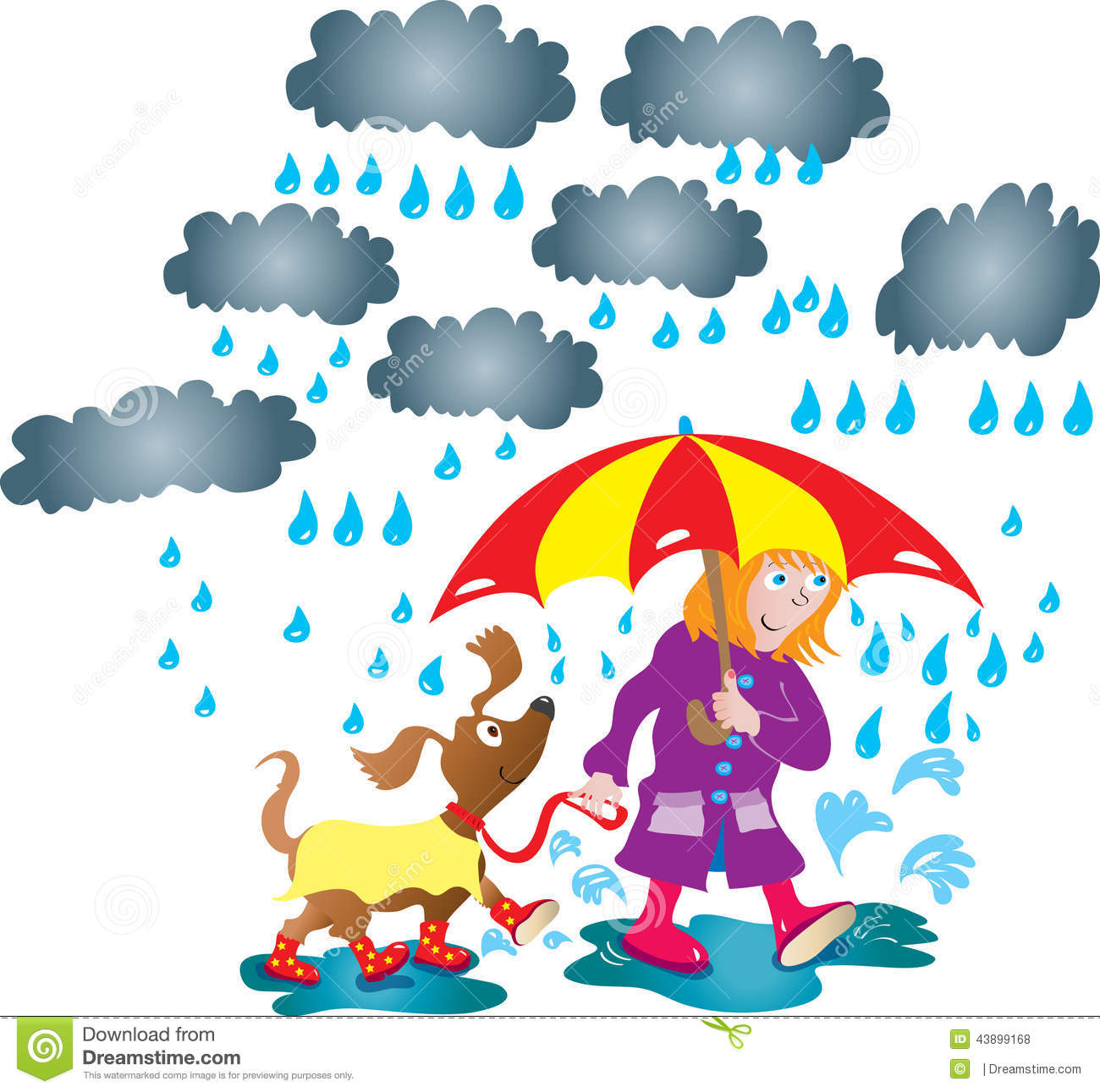 cloudy day and raining clipart #17
