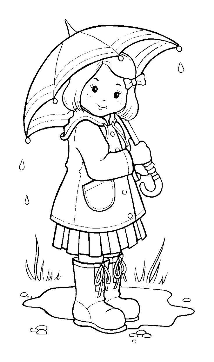 rainy day cartoon pictures gallery black and white.