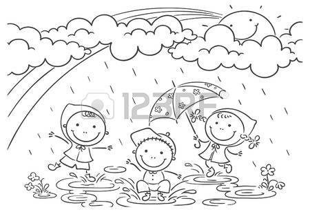 Rainy day clipart black and white 2 » Clipart Station.