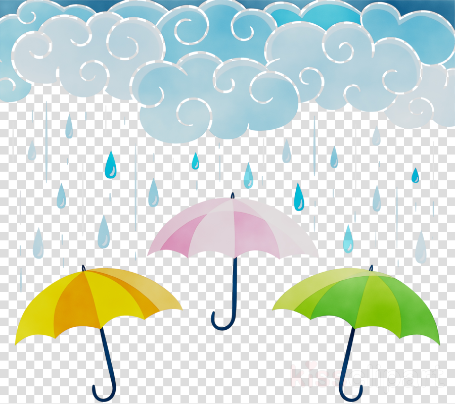 Umbrella, Rain, Rainbow, Transparent Png Image & Clipart.