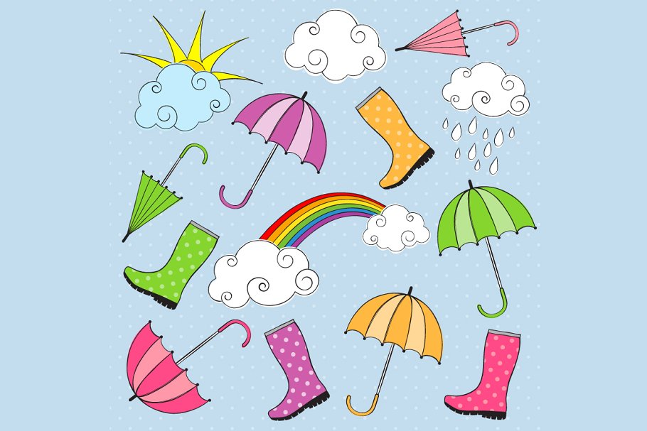 Rainy Day Clip Art.