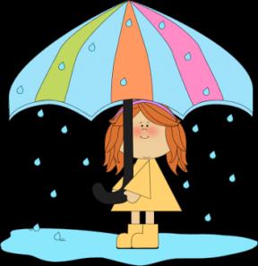 Rainy Day Picnic Clipart.