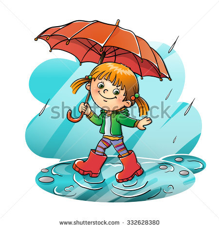 Cartoon Rain Stock Images, Royalty.