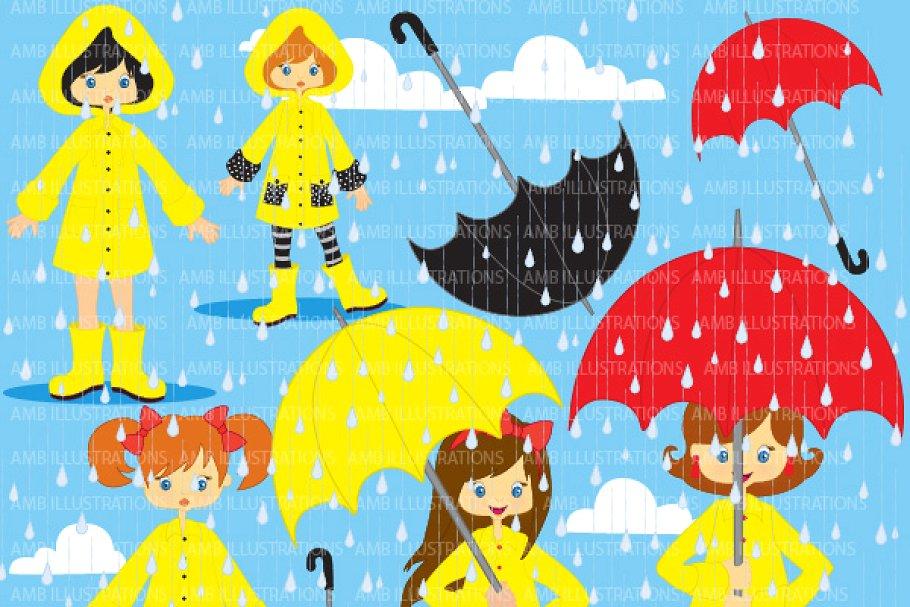 Rainy Days Clipart AMB.