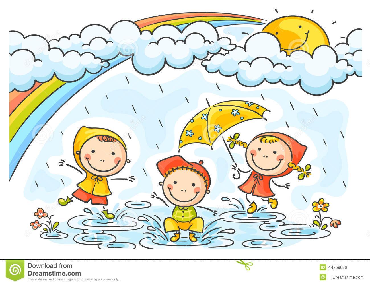 Rainy season clipart.
