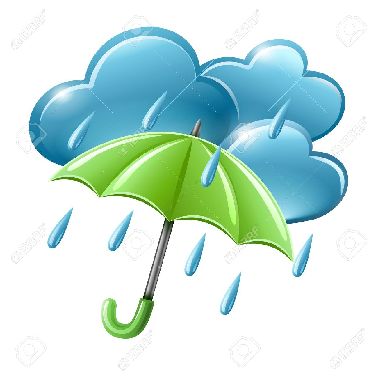 Rainy Day Clip Art: Rainy Season Clipart